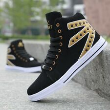 2016 Fashion Men Leather High Top Outdoor Sports Casual Ankle Shoes Sneakers