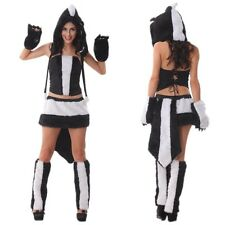 Cute Furry Sexy Halloween Party Skunk Catwoman Costumes Fancy Animal Cosplay