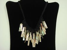 """HANDMADE RED ABALONE SHELL STICK SHELL NECKLACE 20"""" #5075"""