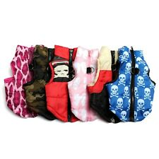Pet Dog Puppy Coat Cotton Padded Vest Jacket Harness Clothes Apparel Size XS-L