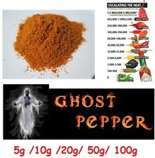 POWDER dried ghost pepper pod / bhut jolokia spice cooking very hot chili sauce