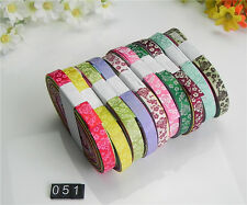 """NEW 10/20 yards 3/8"""" mix10 Style sewing satin grosgrain ribbon lot wholesale A51"""