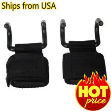 Weight Lifting Training Pads Grips Gym Palm Hooks Wrist Straps Gloves Bar Hand