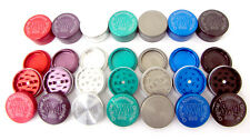 50mm Grinder 3 Part Tobacco Crusher Herb Spice In Colours Metal Aluminium Pocket