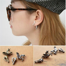 HOT Fashion Cool Vintage Retro Cute Unicorn Horse Animals Ear Stud Earring Gift