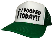 New I Pooped Today with Man symble Snapback Curved Cap Hat Trucker