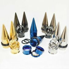 Stainless Steel Ear Tapers And Tunnels Plugs Stretchers Expanders Gauges 2 Pair