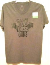 Mens T-shirt Charcoal Can't Ban These Guns Screen Print Humor Vneck S/S NWT M