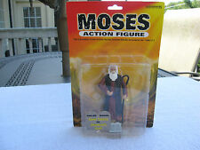 Moses Action Figure Bible 10 Commandments Stone Tablets & Staff Accoutrements