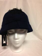 August  Womens Feather Bow Cloche Hat One Size  #16316  Navy  NWT
