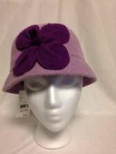 August  Womens Flower Cloche Hat One Size  #16612 Lilac  NWT