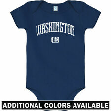 Washington DC One Piece - Capitals Nationals Baby Infant Creeper Romper NB-24M