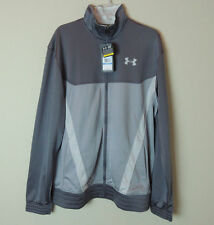 New Under Armour MENS Gym Warm Up Basketball Track Suit Jacket Grey SZ M L 2XL
