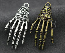 5/20/100pcs Tibetan Silver Exquisite Bone Claws Jewelry Charms Pendant 42x20mm