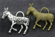 3/10/50pcs Tibetan Silver Exquisite Donkey Jewelry Charms Pendant DIY 34x29mm