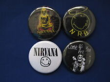 NIRVANA Great Band   4 New pin backs buttons SELECT SIZE badges NEAT