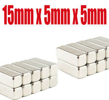 Strong N35 Grade Rare Earth Permanent Oblong Neodymium Magnets 15mm x 5mm x 5mm