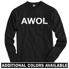AWOL Long Sleeve T-shirt LS - Military Army Marines Navy USAF USA - Men / Youth