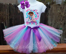 Doc McStuffins Girl Birthday Custom Personalized tutu skirt Birthday outfit