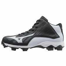 Mizuno Men's Mid Cut  Advanced Franchise 8 Molded Baseball Cleat Black - 320504