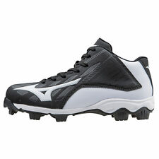 Mizuno Youth Mid Advanced Franchise 8 Molded Baseball Cleat - Black - 320506