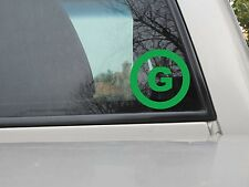 Green Party Logo Sticker - Vinyl Decal - Various Sizes & Colors