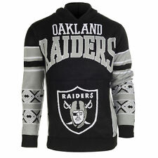Forever Collectibles NFL Oakland Raiders Big Logo Ugly Sweater Pullover Hoodie