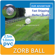 2.5M(8.2ft) PVC ZORB BALL Inflatable Zorb ball Zorbing Human Hamster ball 1.0MM