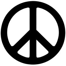 Peace Decal - Peace Symbol Sticker - Buy 1 Get 1 Free - Choose Color & Size