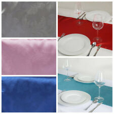 "10 pcs 14"" x 108"" Embossed Satin TABLE RUNNERS Wedding Dinner Decorations"