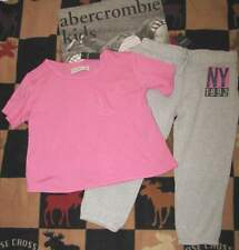 NWT ABERCROMBIE KIDS CROP SWEATPANTS & TEE - SZ XS OR S