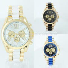 Alloy Quartz Analog Roman Numerals Diaplay Wrist Watch Sub-Dials Unisex Gift