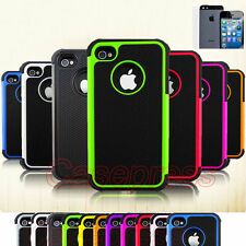 iPhone 4 4s Case Cover Shock Proof Rugged Rubber Matte Hard Case Screen Protecto