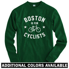 Boston is for Cyclists Long Sleeve T-shirt LS - Biking Bike Bicycle  Men / Youth