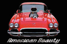 Red Corvette American Beauty 1960s Chevrolet Classic Muscle Car Poster Print