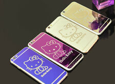 Hello Kitty Tempered Glass Screen Protectors for iphone 6s front&back+free case