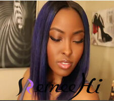 100% indian remy human hair Soft Silky Straight lace front/full wig baby hair