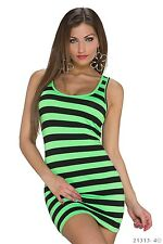 Sexy Stripes Longtop Tank top Tank Tunic Summer fashion Beach dress neon