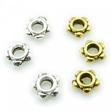50 Spacer beads 4mm silver gold Flower Flower small tiny Spacer