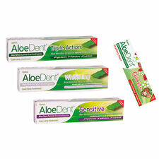 Aloe dent toothpaste pack of three fluoride free