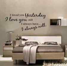 I Loved You yesterday Wall Quote Wall Decals & Stickers