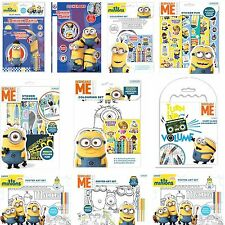 Minions Despicable Me Play Pack, Sticker Paradise, Coloring Set, Poster Art Set