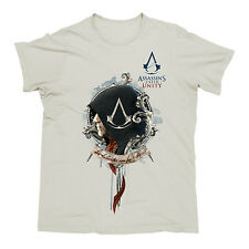 ASSASSINS CREED UNITY White Men's T-Shirt CHOOSE SIZE: S M L XL Christmas Gift