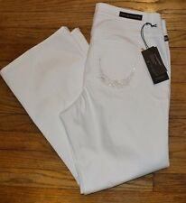 Rock & Republic Bootcut Kasandra White Jeans with Accent Gems on Back Pockets