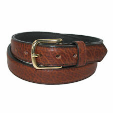 New Boston Leather Men's Big & Tall Bison Leather 1.25 Inch Dress Belt