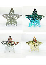 2X Christmas Decorations 9CM Metal Plated Star Tealight Candle holder