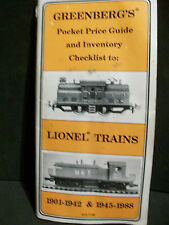 LIONEL TRAINS GREENBERG'S POCKET PRICE GUIDE 1901-1942 & 1945-1988 (H)