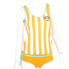 Julius & Friends Paul Frank $53 Orange White Stripes PJ Tank Top Panty Sleep Set