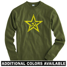 USSR Star Long Sleeve T-shirt LS - Sickle Scythe Communist Russia - Men / Youth