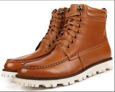 US Size 5-11 New Comfort Lace Up Leather Casual Mens Ankle Boots Shoes 2 Colors